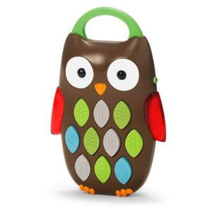 Aktywny telefon Sowa - plastikowy telefon z dźwiękami dla dzieci i niemowląt, SKIP HOP 303200 - 2855534358