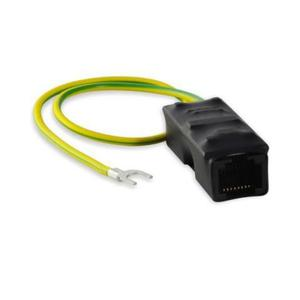 Ogranicznik przepięć dla urządzeń Gigabit Ethernet 10/100/1000 Mbps oraz PoE PASSIVE / 802.3af / 802.3at, 1 kanał, złącza RJ45/RJ45, typu IPP-1-20-HS - 2881009605