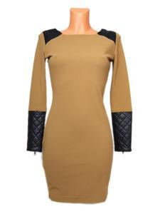 Sukienka Khaki+wstawki sk - 2822802145