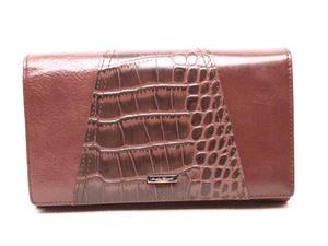 aac2259af737c Sklep: modny poziomy skórzany portfel damski - ciemny zielony