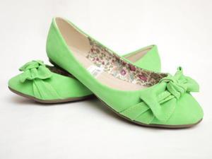 Balerinki Zielone z Kokardą Anesia Paris - 2822802018