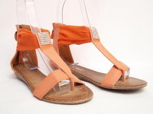 Sandały Pomarańczowe - 2822802025