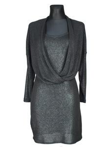 Sukienka Czarna Błyszcząca - 2822802085