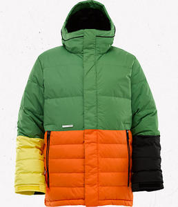 BURTON Cushing Down Jacket Astro Turf Colorblock W12