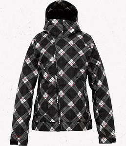 BURTON Penelope Jacket True Black Bias Plaid W12 - 2825947883