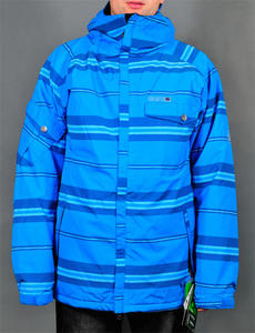 686 Factor Insulated Jacket league stripe blue W13