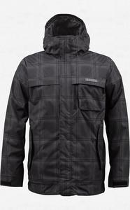 BURTON Poacher Jacket true black/ghost plaid W13 - 2825948012
