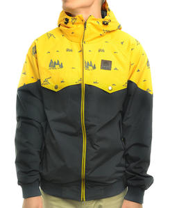 TURBOKOLOR Ewald Jacket – Graphite/Yellow Camping Print - SS14
