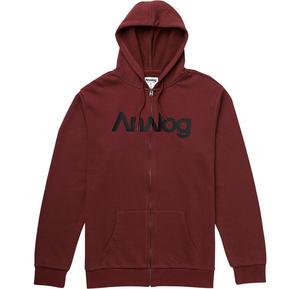 ANALOG Analogo Full-Zip Hoodie Burgundy W15 - 2825948231