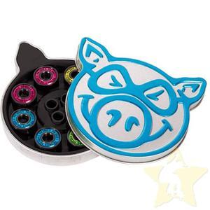 PIG Wheels Łożyska Neon Blue ABEC 5 - 2844116033