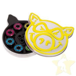 PIG Wheels Łożyska Neon Yellow ABEC 5 - 2844116034