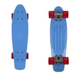 FISH SKATEBOARDS Classic Fish cruiser blue/silver/transparent red - 2844116064