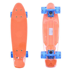 FISH SKATEBOARDS Classic Fish cruiser orange/blue/transparent blue - 2844116069