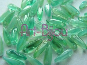 koraliki seledynowe 3x11 mm - 2822779269