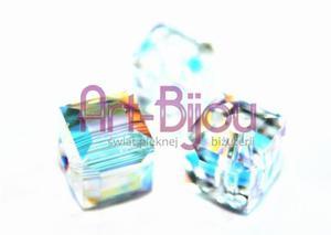 Kryształy Swarovski Cubes Crystal AB 6 mm - 2822779373