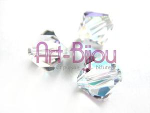 Kryształy Swarovski Bicone Crystal AB 6 mm - Crystal AB - 2822779381
