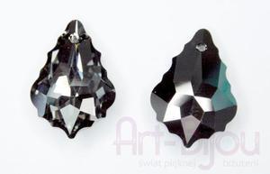 kryształy Swarovski 6090 Baroque Silver Night 22x15mm - 2822779509