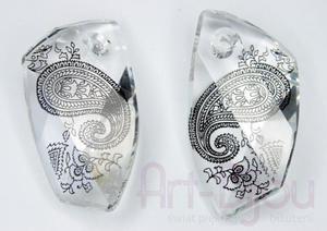 kryształy Swarovski 6620 Avantgarde Crystal Paisley Print 40 mm - 2822779510