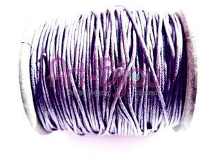 Fioletowy sznurek woskowany 1 mm - Fioletow - 2822779293