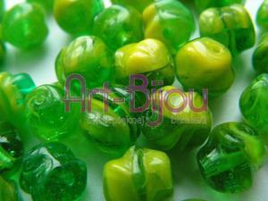 Koraliki zielono-żółte barokowe 9 mm - 2822779263