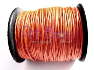 Pomarańczowy sznurek woskowany 1 mm - Pomarańczowy - 2822779296
