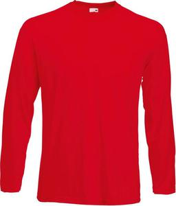 Long sleeve Fruit of the Loom Valueweight 610380 40 - czerwone - 2833124693