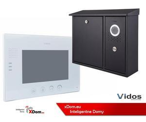 Zestaw VIDOS skrzynka na listy z wideodomofonem. Monitor 7'' S551-SKN_M670W - 2873329627