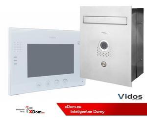 Zestaw VIDOS skrzynka na listy z wideodomofonem. Monitor 7'' S551-SKP_M670W - 2873329628