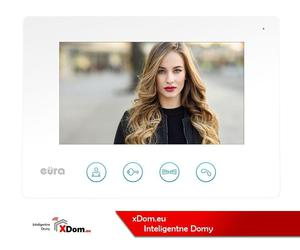 MONITOR ''EURA'' VDA-40A3 WHITE - ekran 7'', otwieranie 2 wejść, moduł WiFi - 2878797701