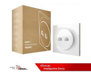 Fibaro Podwójne gniazdo ethernet Walli N Ethernet Outlet - 2883832187
