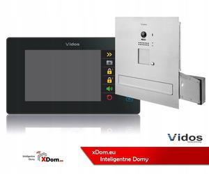 Zestaw wideodomofonu Vidos S1201A-SKM_M1021B Skrzynka na listy z wideodomofonem Monitor czarny 7'' - 2859656956