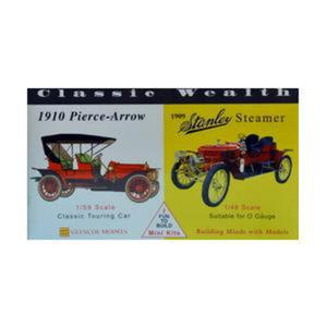 Model plastikowy - Samochody Classic Wealth - 1910 Pierce Arrow / 1909 Stanley Steamer - Glencoe Models (2szt) - 2887025451