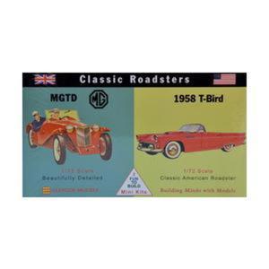 Model plastikowy - Samochody Classic Roadsters - MG-TD / 1958 T-Bird - Glencoe Models (2szt) - 2887027435
