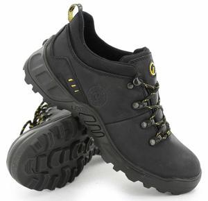 LESTA Obuwie Sportowe Trekking LE-3512-A - Czarny - 2597647078