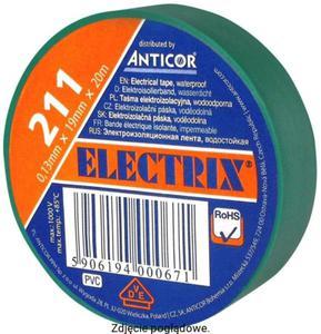 Taśma izolacyjna 19 x 20 zielona ELECTRIX 211 ANTICOR PE-2112007-0019020 - 2882482868