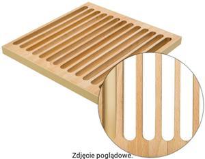 Podest drewniany rolowany 1000 mm DUBEL REGULUS Buk400K/17-kość - 2823578438