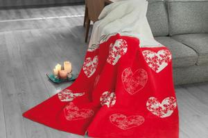 ROMANTIC CZERWONY koc Glamour GRENO - 2846117691