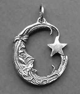 Księżyc z gwiazdką, wisior - 2822816485