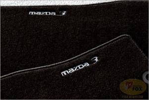 DYWANIKI WELUROWE MAZDA 3 BK oyrginał /Luxury CZARNE z logo/ - 2827788319