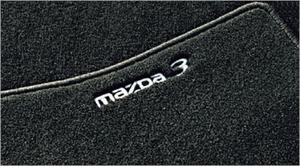 DYWANIKI WELUROWE MAZDA 3 BK /Luxury czarne z logo/ VIN > 685.084 - 2827788321