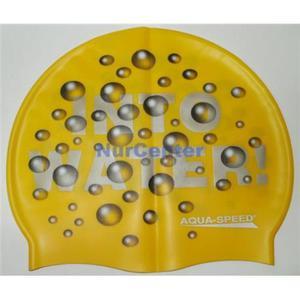 Czepek do pływania silikon AquaSpeed Water żółty - 2829000324