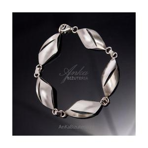 Srebrna biżuteria dla pań Bransoletka srebrna - 2835353088