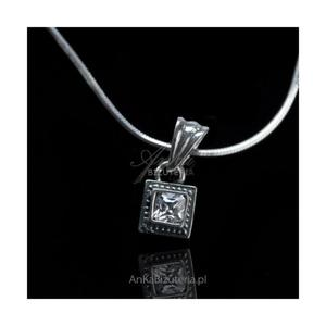 WISIOR srebrny z białą cyrkonią - 2835353311