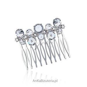 Grzebień do włosów z kryształkami - bardzo modny w tym sezonie. - 2837901350
