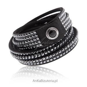 Bransoletka Kryształki Swarovskiego styl Rock Glamour - 2835351730