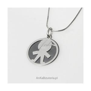 Dzidziuś-chłopczyk - srebrny oksydowany wisiorek dla Kobiet, Dziewczyn, dla Mamy - 2835352015