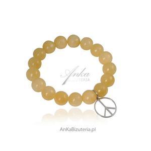 Bransoletka z kalcytem i srebrnym wisiorkiem - biżuteria, którą kochają celebrytki! - 2835351917