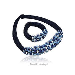 Bogaty naszyjnik i bransoletka z pereł Swarovski - biżuteria ręcznie robiona - 2835351713