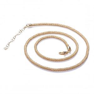 Naszyjnik srebrny pokryty złotem Biżuteria włoska - 2835352775