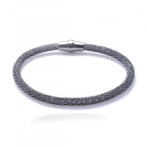 Bransoletka srebrna oksydowana Biżuteria włoska Piękna! - 2835351797